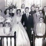 Patricia and Wayne wedding party 1955