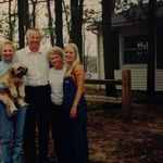 Bill and Juanita with their grandchildren Lindsay and Mallory, and their dog Harley