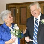 Bill and Peggy's wedding day