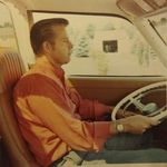 Bill driving to Canada for a family vacation with the Hawkins in 1971
