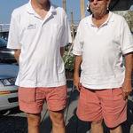 Unplanned wardrobe sync at Hawthorne Cove Marina