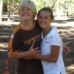 Trent with his twin sister Tara! Camping in Tahoe. Great memories...