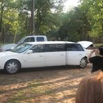 The Limo arriving with the guest of honor at Luis's party
