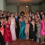 Mr. Ule with his AP Chemistry class at Prom 2007