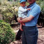 Grandpa visiting with Benjamin in Denver in 2003