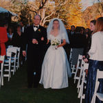 Laura and Scott's wedding, OCtober 24, 1998