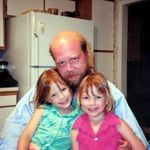 Peter with his girls (age 5)
