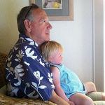 Grandpa watching World World with Kate