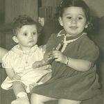 Karen and Francine, 1944