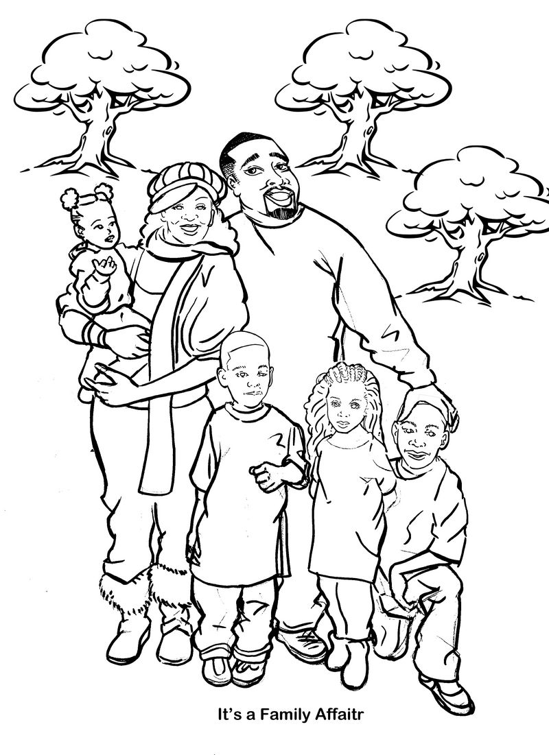 coloring pages family members - photo#20