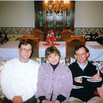 Karen and her brothers Gene & Roy - Christmas, 1997