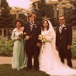My parents wedding day. August 10, 1974 Pictured also is Donald and June Kemp.