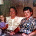 With his dad, Albert George Jr. and daughter, Adriane