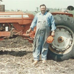Hans with tractor