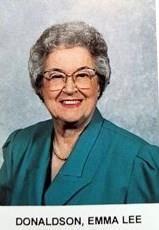 Emma Lee Donaldson obituary photo