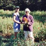 1995 Krista & Jean at Whipporwill Community Farm - Martha's Vineyard