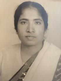 Aleyamma B. Chetty obituary photo
