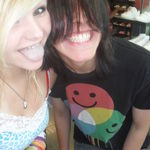 Caleb and me at the mall. rip<3