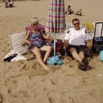 Gram with Bill at the beach in Ocean Park, ME, one of her favorite places.