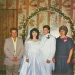 Jim with Tim and I on our wedding day 10-22-1990