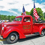 Bert in Franconia's Old Home Day Parade