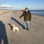 John and Theo at Smugglers Beach