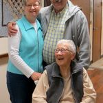 Mom with Pat and Ken sharing a joke