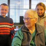 Breakfast at Sissy's  Grandma with Trek and Talia