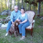 Mom, Dad and Jake. Jake died a few months later from kidney failure.