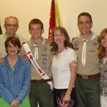 A special day. Jono's Eagle scout ceremony. May 2009. Mom loved being able to see this.