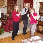 Fun times on the Karaoke machine with Aunt Carol and daughter Shannon