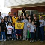 Another Steelers party in late 2008.