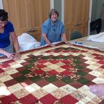 Vera working hard on a beautiful quilt.