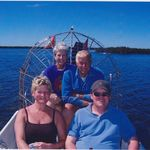 Fun day out on the airboat with David and Jacqueline!