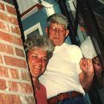 Otis and Martha peeking out the back door - Church Creek Drive