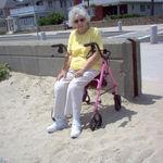 Claire enjoying Revere Beach 2004