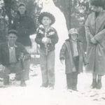 1952 Snow in Mobile.  Scotty, Comp, Russell, Lamarr, Madeline