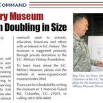The SC Military Museum Expansion plan was announced and Buddy went after it with the same fervor he put forward in every endeavor.
