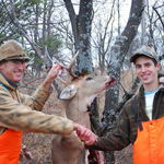 dad and john with the buck
