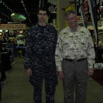 dad and nick at the boat show