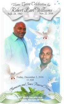 Robert Earl Williams obituary photo