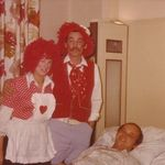Two strange people visiting Paul at the Hospital many moons ago.  Joanna and JC