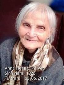 Voc Thi Hoang obituary photo