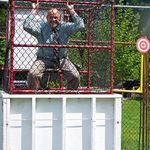 Mr. O'Brien in the dunk tank at the Roslyn May Fair