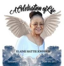 Elaine Hattie Johnson obituary photo