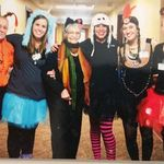 Halloween 2016 with Lutheran Life at Pine Valley staff: Lori, Christie, Sharon, Tracy (Daisy), Hannah, and Tabitha.