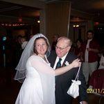 Laura danced with Grandpa Joe at her wedding.