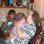 Grandma with Rachel and Ryleigh 2007