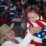 Ama with Olivia July 4th celebration at Brookside Country Club