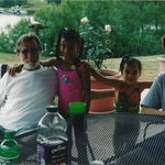 July 2005 with Ian and grandkids